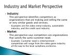 industry and market perspective