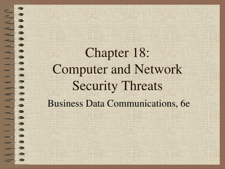 chapter 18 computer and network security threats n.