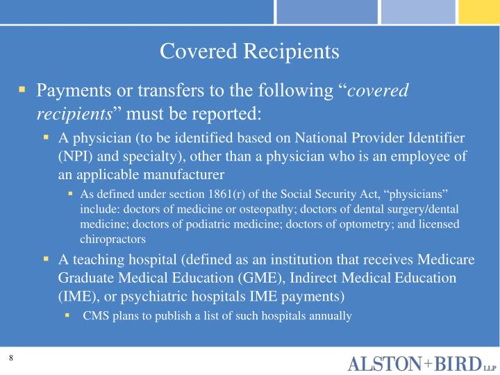 Covered Recipients