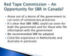 red tape commission an opportunity for sbr in canada