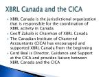xbrl canada and the cica