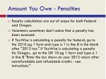 amount you owe penalties