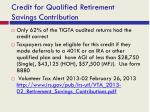 credit for qualified retirement savings contribution