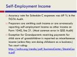 self employment income