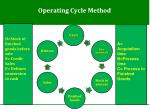 operating cycle method