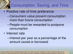 consumption saving and time1
