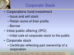 corporate stock