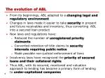 t he evolution of abl
