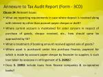 annexure to tax audit report form 3cd13