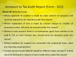 annexure to tax audit report form 3cd14
