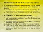 brief introduction to sa s other relevant standards