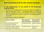 brief introduction to sa s other relevant standards7