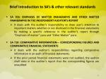 brief introduction to sa s other relevant standards8
