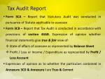 tax audit report