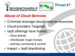 abuse of cloud services