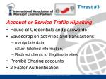 account or service traffic hijacking