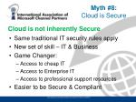 cloud is not inherently secure