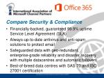 compare security compliance