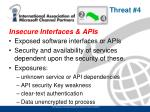 insecure interfaces apis