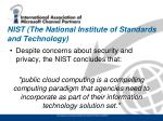 nist the national institute of standards and technology
