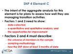 snp 4 element c1
