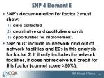 snp 4 element e3