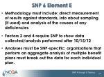 snp 6 element e5