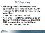 snp reporting