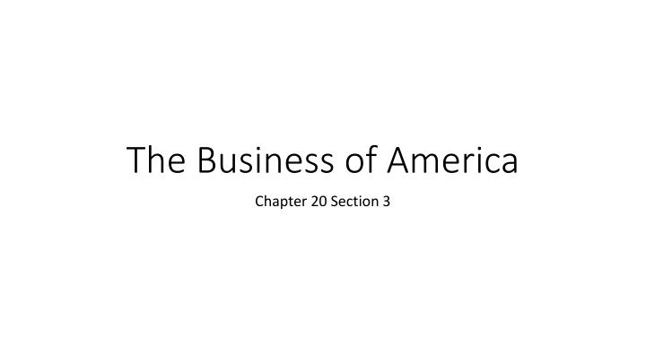the business of america n.