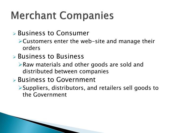Merchant Companies