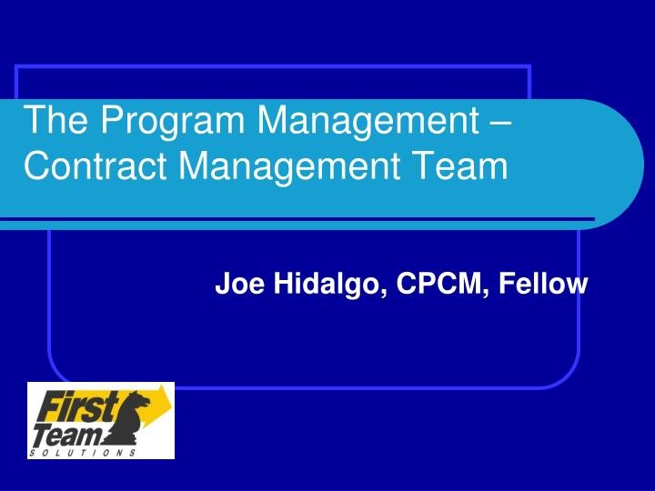 the program management contract management team n.