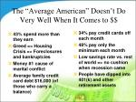 the average american doesn t do very well when it comes to
