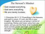 the steward s mindset