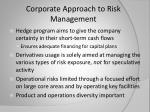 corporate approach to risk management