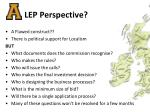 lep perspective