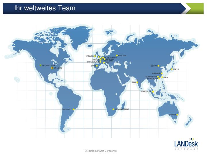 Ihr weltweites Team