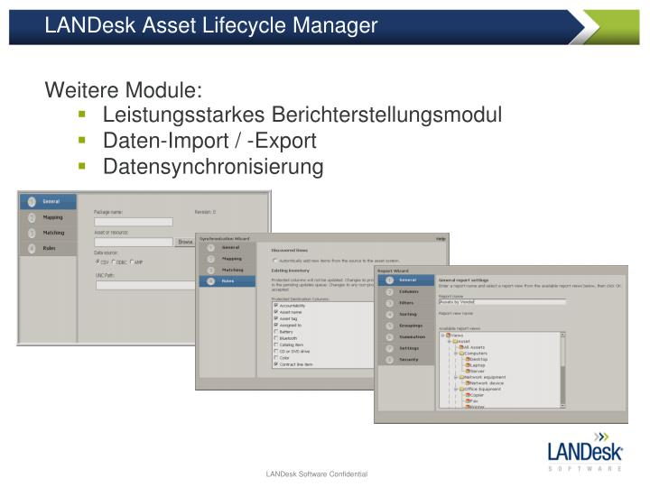 LANDesk Asset Lifecycle Manager