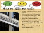 about the biggies that rates