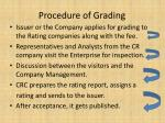 procedure of grading