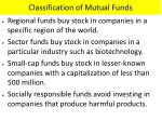classification of mutual funds1