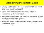 establishing investment goals1