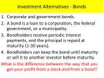 investment alternatives bonds