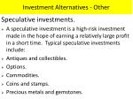 investment alternatives other
