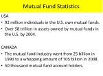 mutual fund statistics