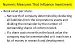 numeric measures that influence investment2