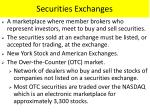 securities exchanges