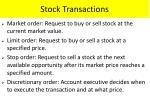 stock transactions