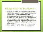 bridge math to economics