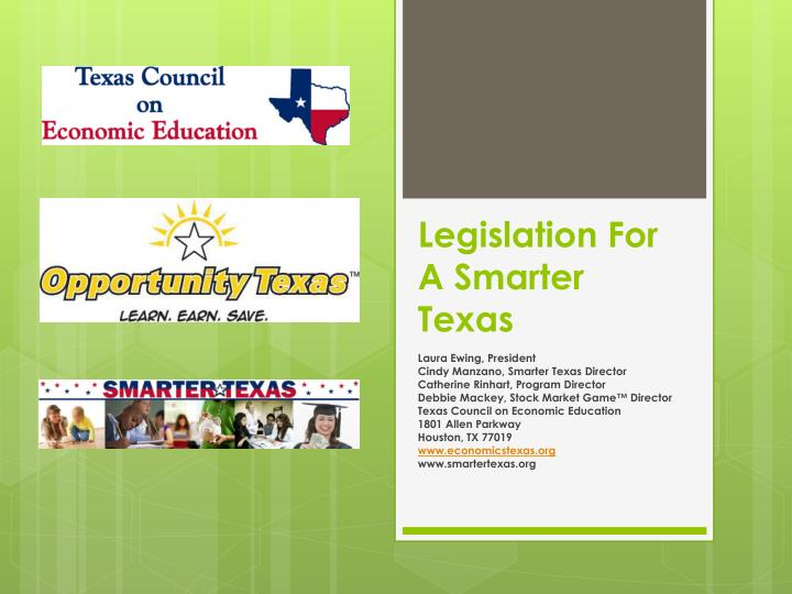 legislation for a smarter texas n.