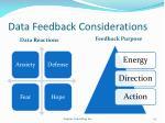data feedback considerations